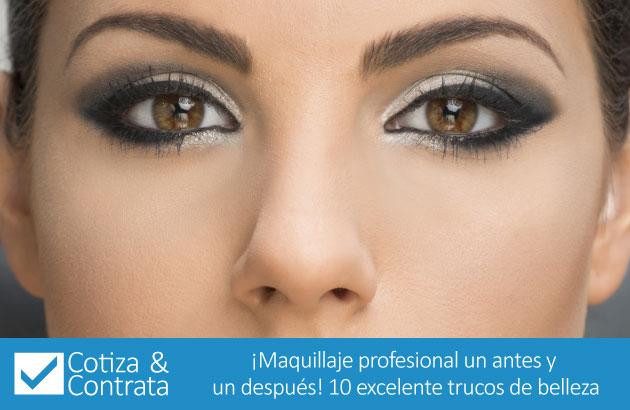 ¡Maquillaje profesional un antes y un después! 10 excelente trucos de belleza